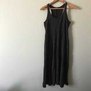 GPA Racerback Paneled Black Midi Dress